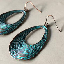 Load image into Gallery viewer, Geillis Copper & Teal Earrings