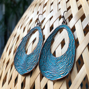 Geillis Copper & Teal Earrings