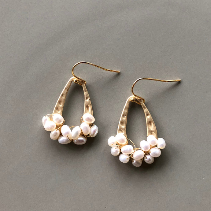 Esmee Gold Teardrop Pearl Earrings