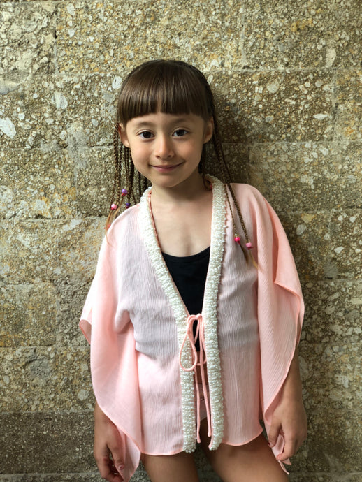 Sirena Kaftan in Pale Peach (Kids)