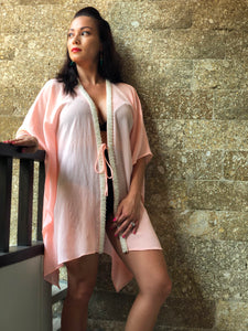 Sirena Kaftan in Pale Peach