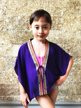 Load image into Gallery viewer, Zecca kaftan in Violet (Kids)