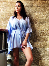 Load image into Gallery viewer, Saeta Belted Drawstring Kaftan in Periwinkle