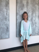 Load image into Gallery viewer, Saeta Belted Drawstring Kaftan in Mint (Kids)