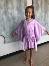 Load image into Gallery viewer, Saeta Belted Drawstring Kaftan in Lilac (Kids)