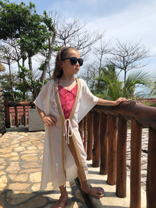 Faberge Kaftan in White (Kids)
