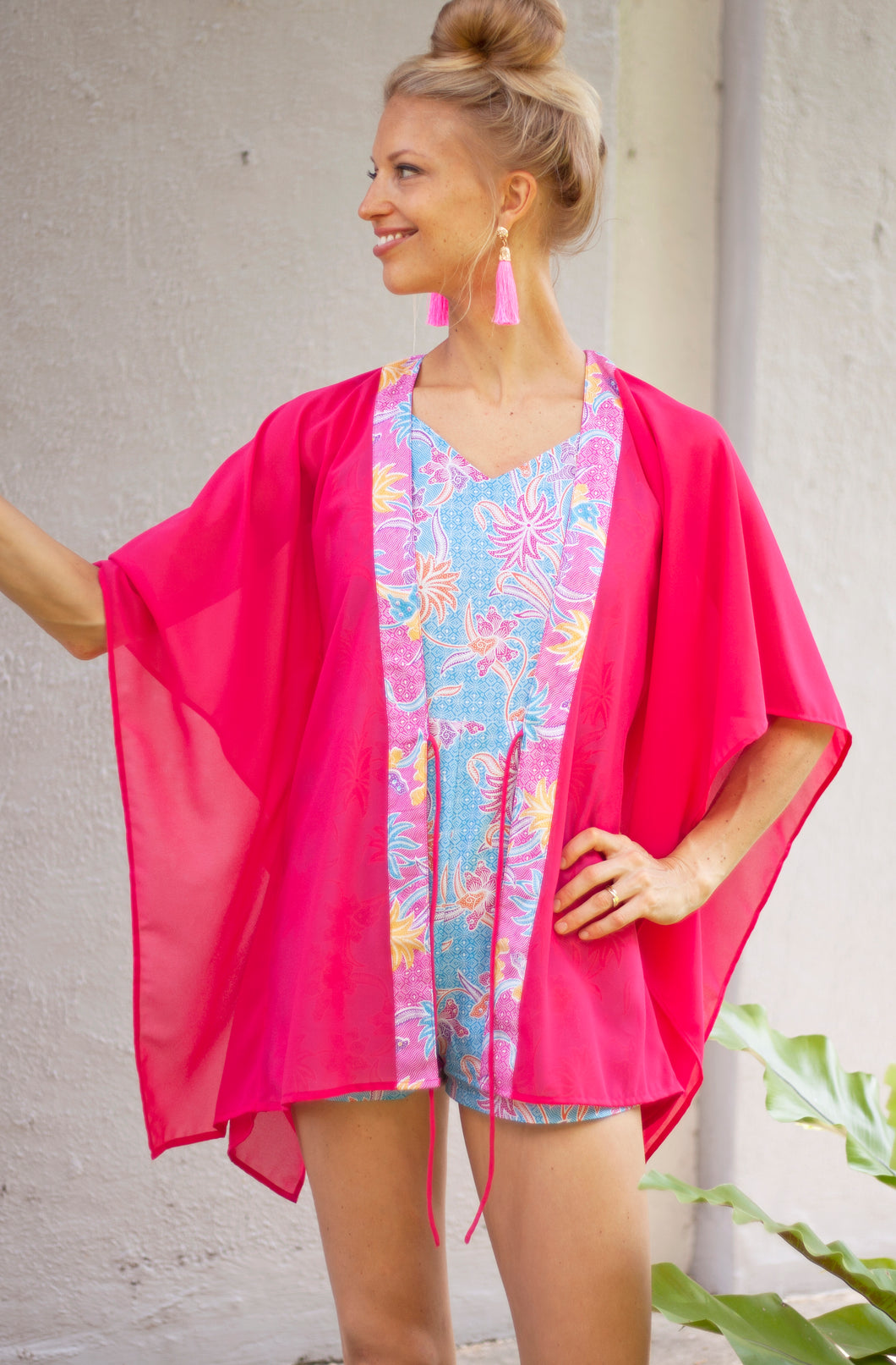 Lestari Kaftan in Fuschia