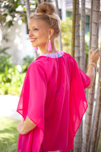 Load image into Gallery viewer, Lestari Kaftan in Fuschia