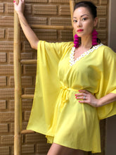 Load image into Gallery viewer, Estrelle Belted Drawstring Kaftan