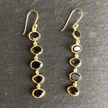 Load image into Gallery viewer, Celena 5-Stone Gold-Plated Earrings