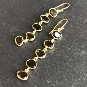 Celena 5-Stone Gold-Plated Earrings