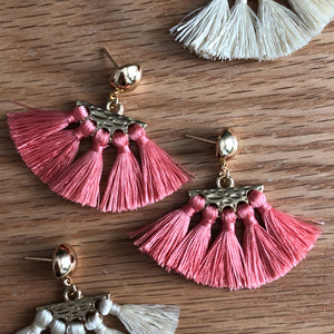 Sieva Mini Tassel Earrings