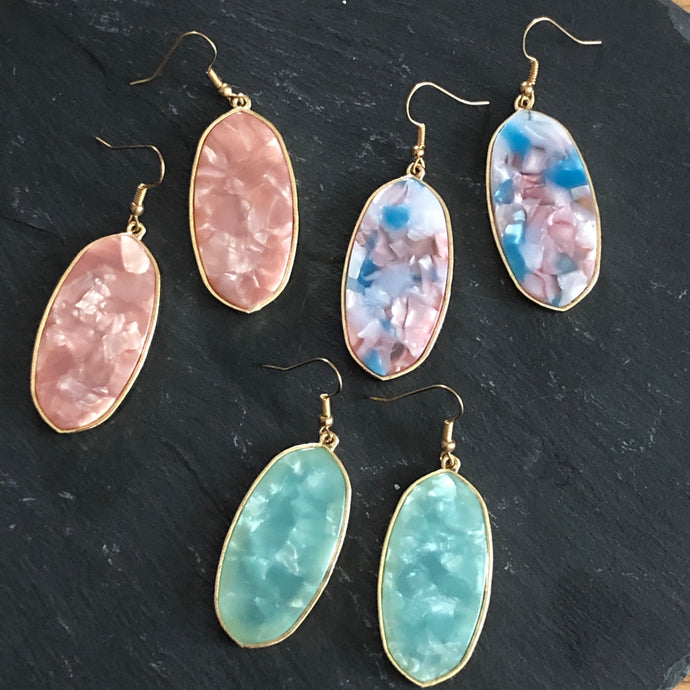 Una Resin Drop Earrings
