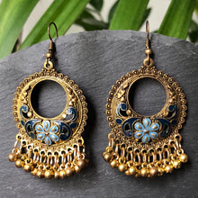 Load image into Gallery viewer, Kalinda Gold Bell Earrings