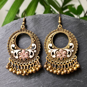 Kalinda Gold Bell Earrings
