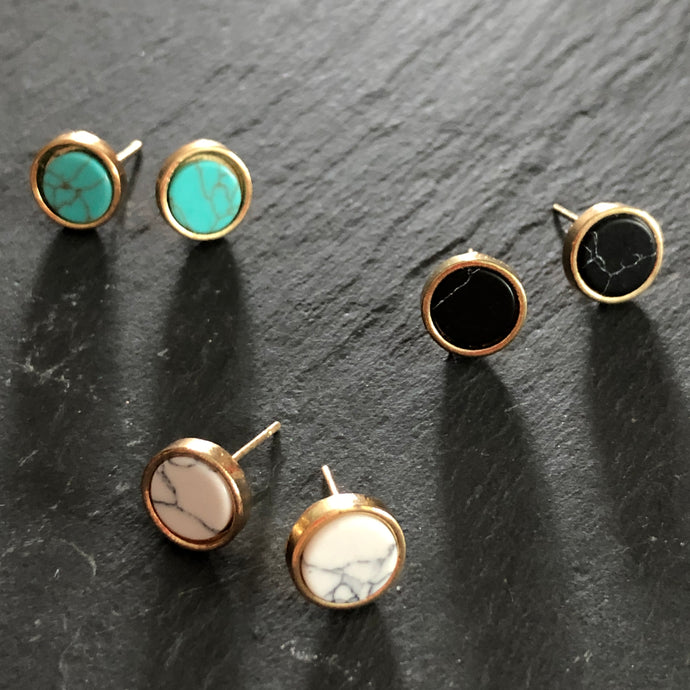 Elin Small Stone Studs