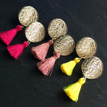Load image into Gallery viewer, Mahana Mini Tassel Earrings