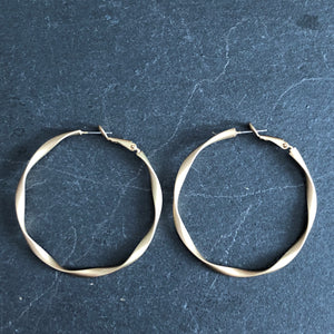Dea Matte Gold Hoop Earrings