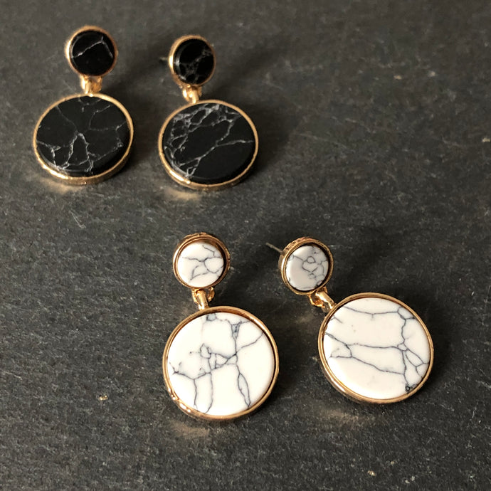 Natasya Howlite Earrings