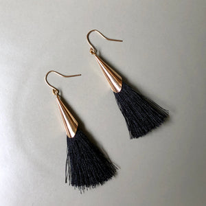 Mula Tassel Earrings in Black