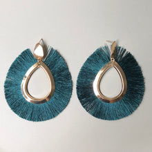 Load image into Gallery viewer, Centurion Tassel Earrings in Forest Green