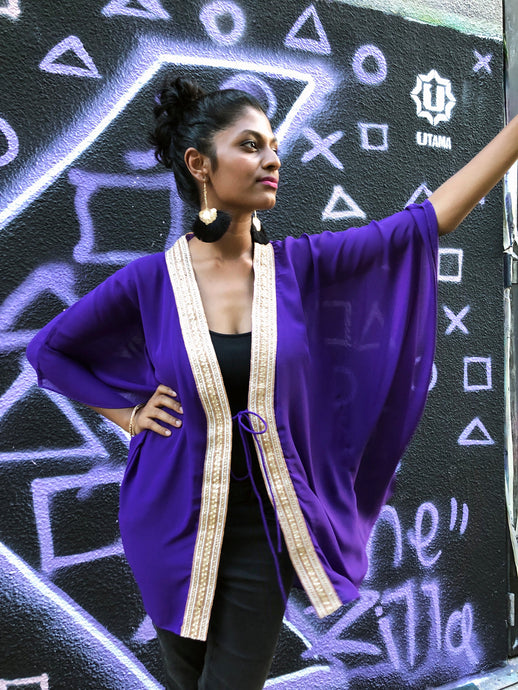 Neola Kaftan in Royal Purple