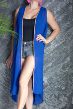 Load image into Gallery viewer, Paza Sleeveless Kimono in Royal Blue