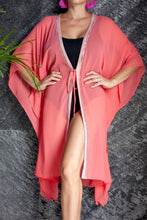 Load image into Gallery viewer, Candis Kaftan in Salmon Pink (Long)
