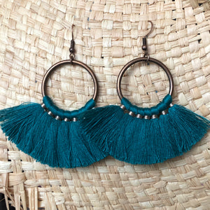 Elu Fan Tassel Earrings