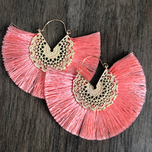 Load image into Gallery viewer, Maxi Dasia Crescent Tassel Earrings