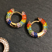 Load image into Gallery viewer, Hina Rhinestone Huggie Hoop Earrings