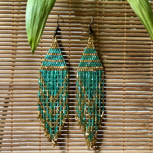 Aponi Hand Beaded Dangle Earrings