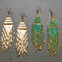 Load image into Gallery viewer, Aponi Hand Beaded Dangle Earrings