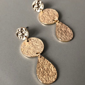 Eidyth Textured Gold Earrings