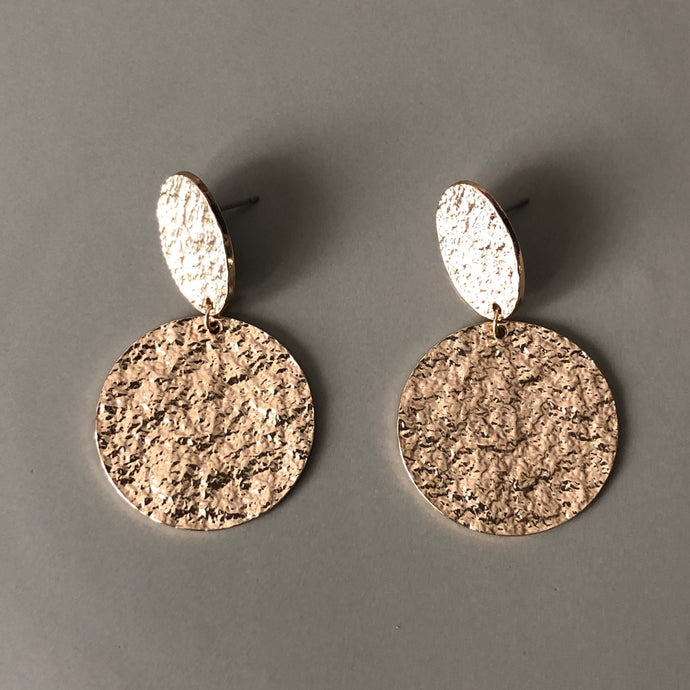 Cyne Textured Gold Earrings