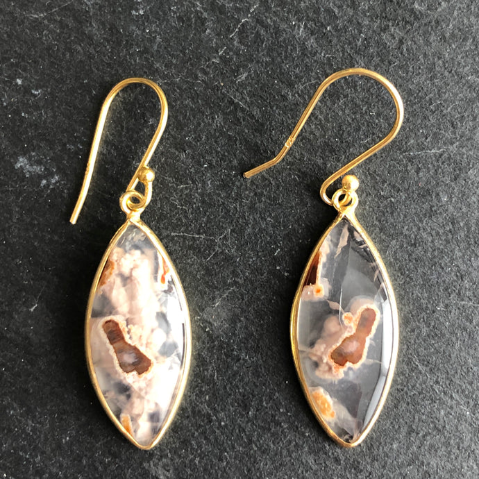 Stasia Agate Montana Earrings