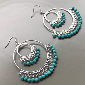 Lyra Beaded Hoop Earrings
