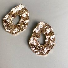 Load image into Gallery viewer, Cyndi Gold Statement Earrings