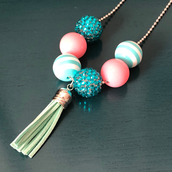 Demelza Kids' Necklace in Pink & Blue