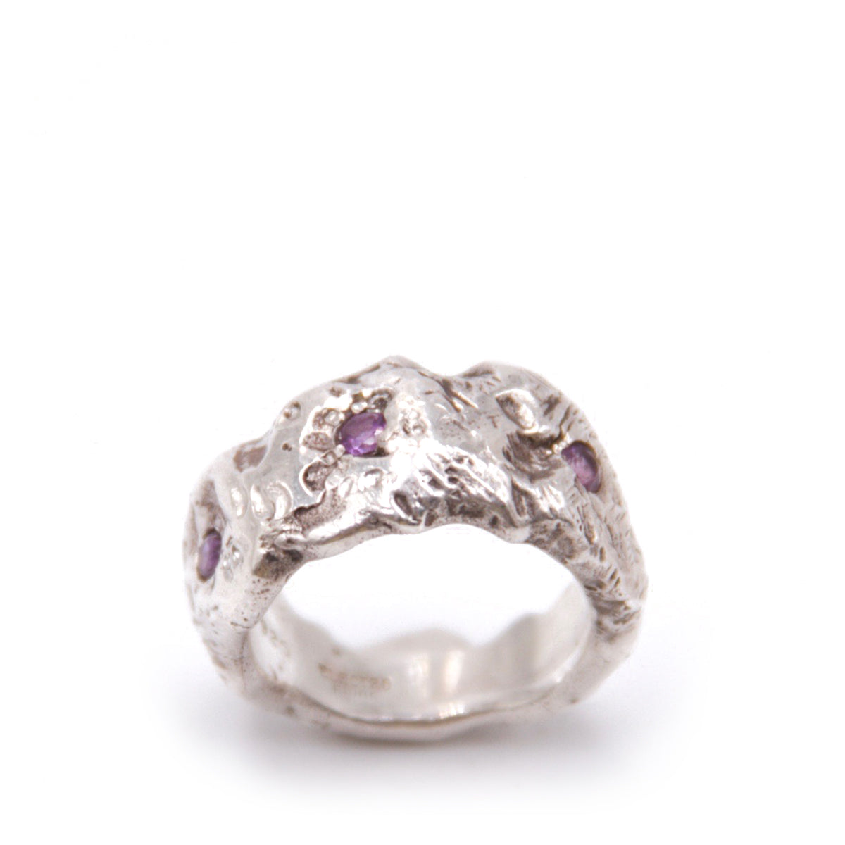 Landscape Ring, Wide, Amethyst