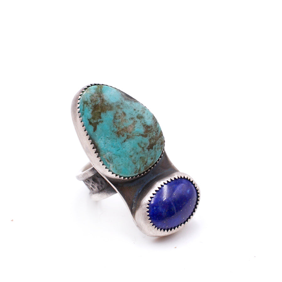 Nevada Turquoise and Lapis Lazuli Ring