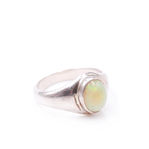 Delicate Ethiopian Opal Signet Ring
