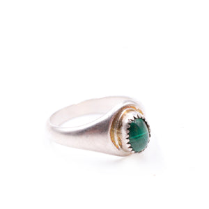Delicate Malachite Signet Ring