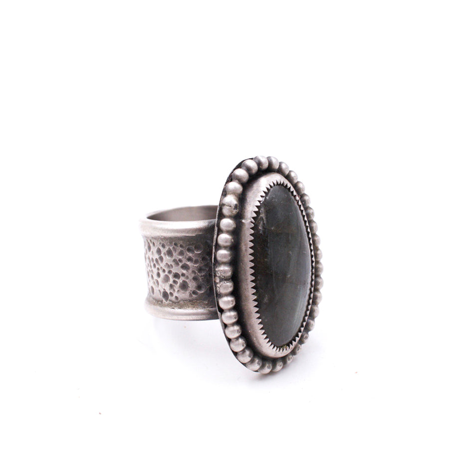 Labradorite Hand-Textured Ring