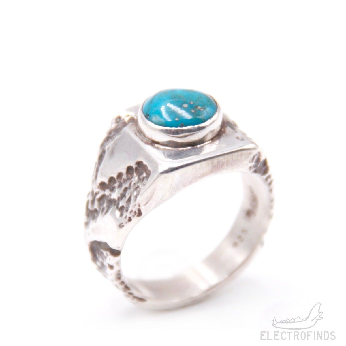 Turquoise Rubble Signet Ring