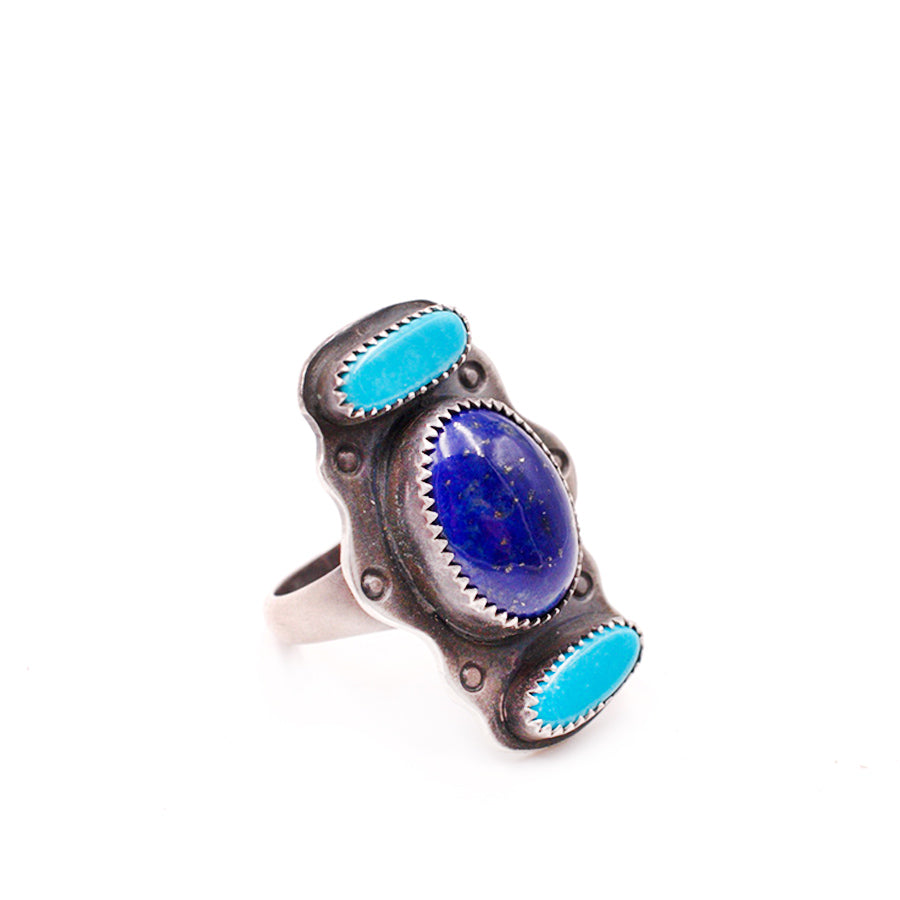 Mexican Turquoise and Lapis Lazuli Ring