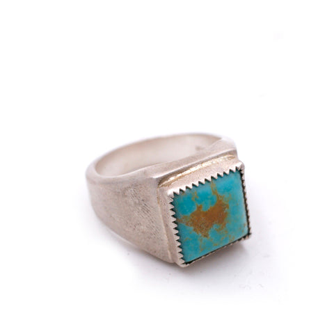 American Turquoise Signet Ring