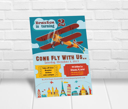 Airplane Party Invitation - The Party Stork