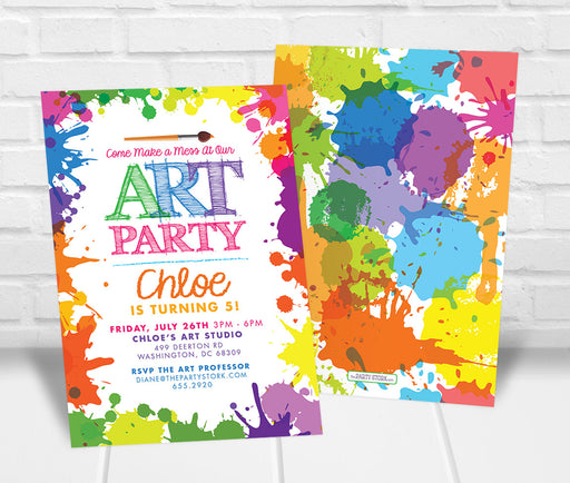 Art Party Invitation - The Party Stork