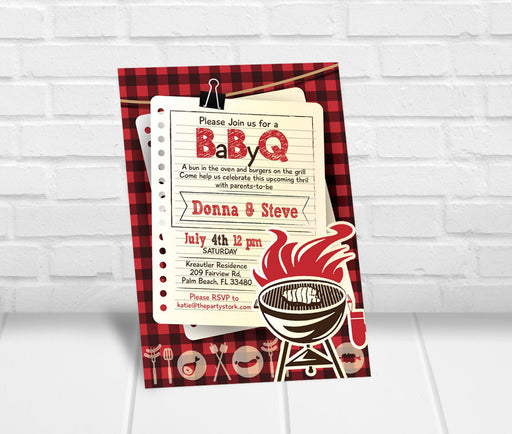 BabyQ Baby Shower Invitation - The Party Stork